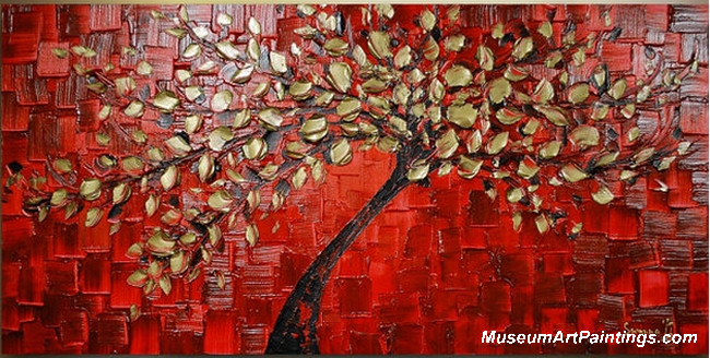 Gold Tree Landscape Painting 003