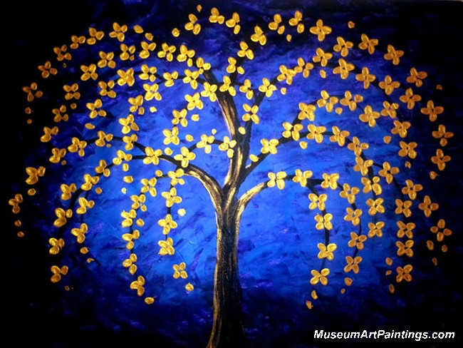Gold Tree Landscape Painting 008