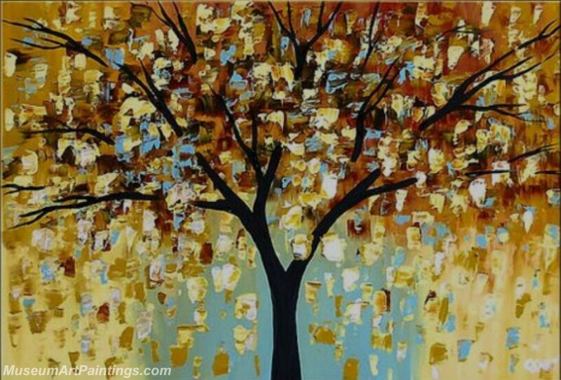 Golden Tree Painting Modern Abstract Art for Sale GT014
