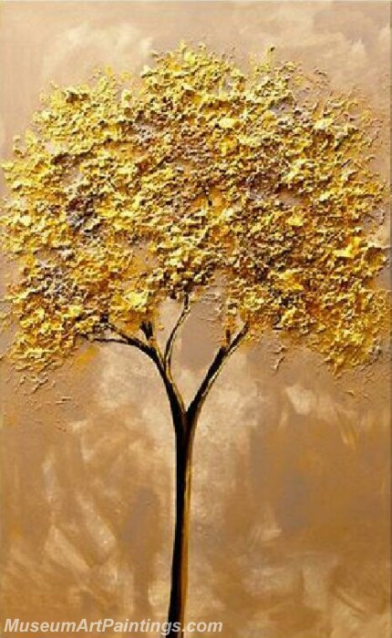 Golden Tree Painting Modern Abstract Art for Sale GT022
