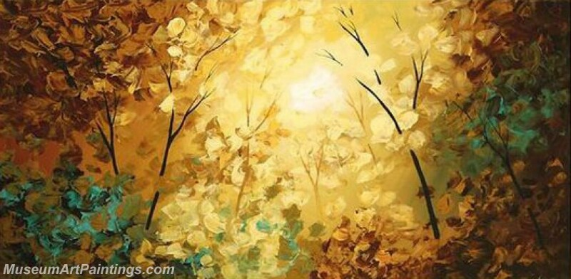 Golden Tree Painting Modern Abstract Art for Sale GT023