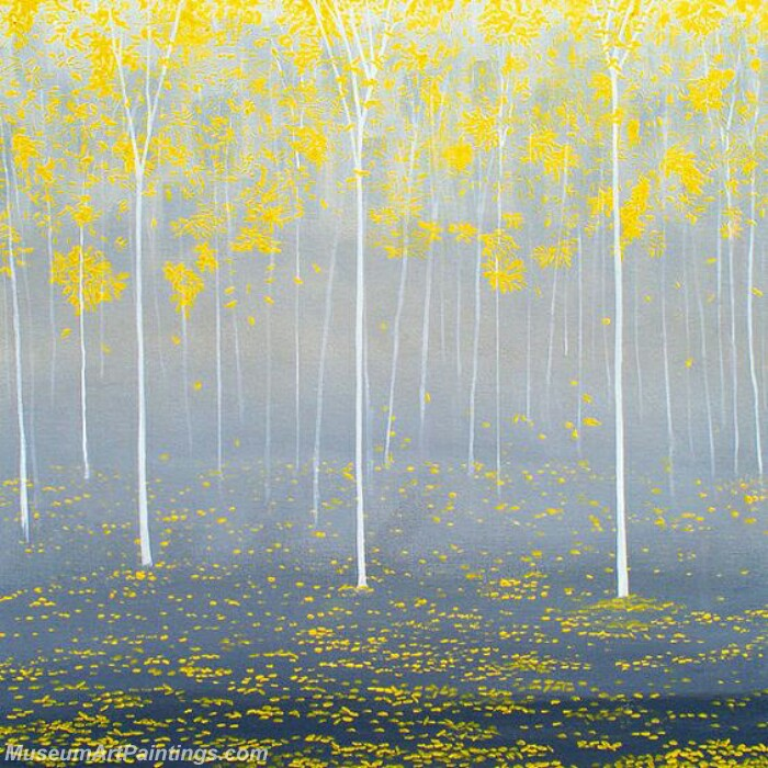 Golden Tree Painting Modern Abstract Art for Sale GT05