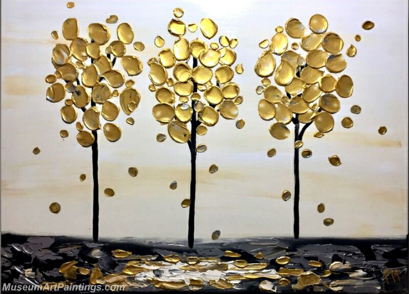 Golden Tree Painting Modern Abstract Art for Sale GT08