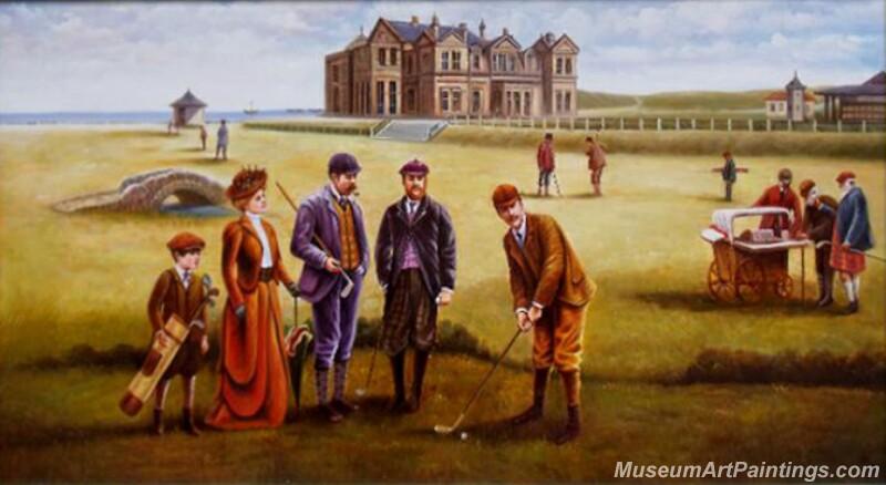 Golf Oil Paintings GOP01