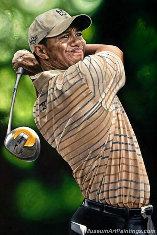 Golf Paintings Tiger Woods Paintings 01