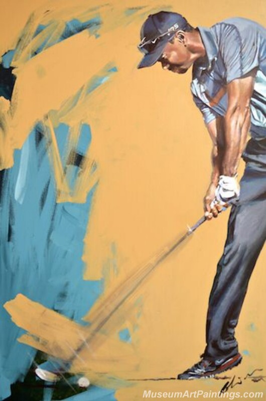 Golf Paintings Tiger Woods Paintings 03