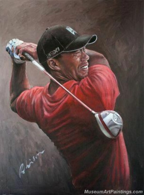 Golf Paintings Tiger Woods Paintings 06