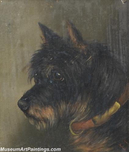 Handmade Dog Portrait Oil Paintings MA026
