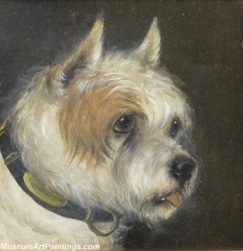 Handmade Dog Portrait Oil Paintings MA029