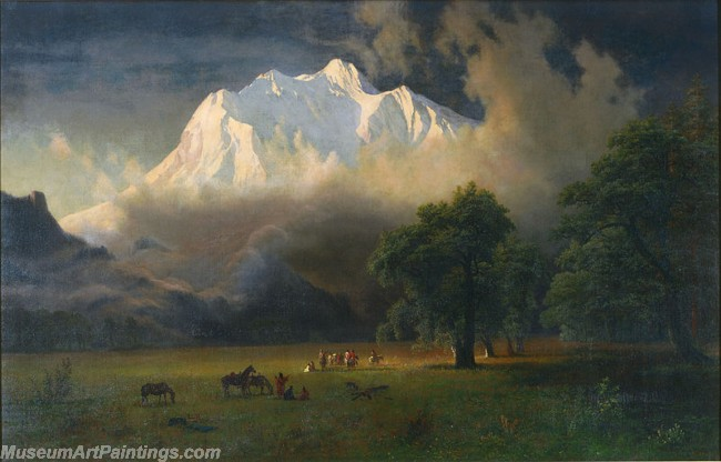 Landscape Paintings Albert Bierstadt Mount Adams Washington