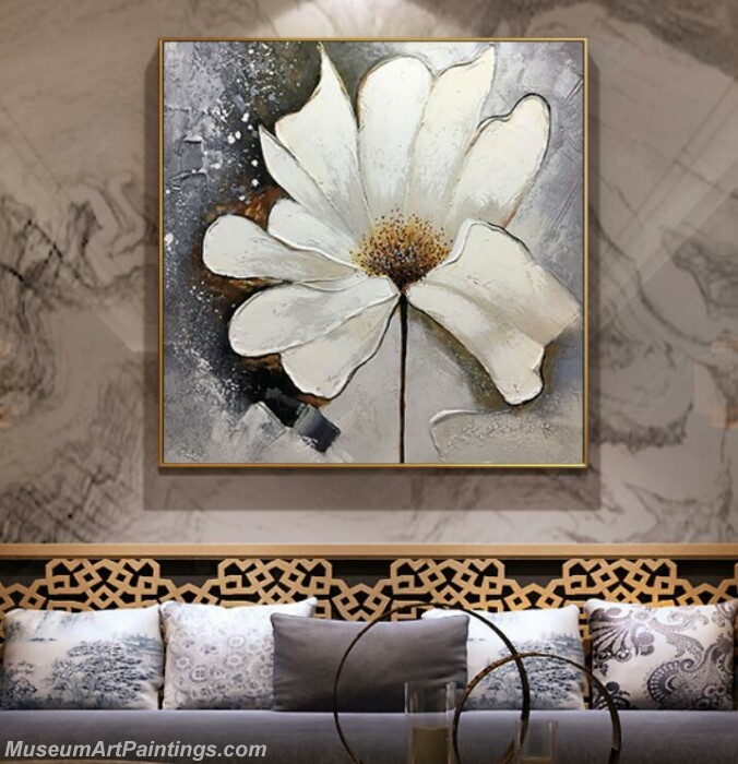 Living Room Paintings for Sale Abstract Flower Painting B53