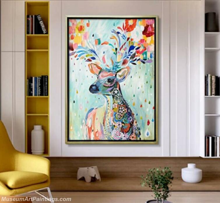 Living Room Paintings for Sale Deer Painting 01