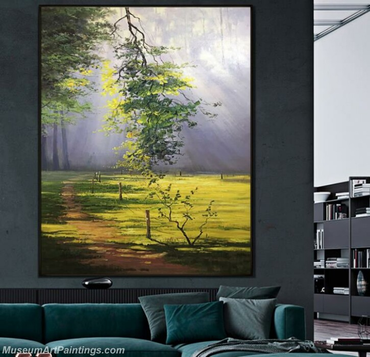 Living Room Paintings for Sale Green Forest Landscape Paintings