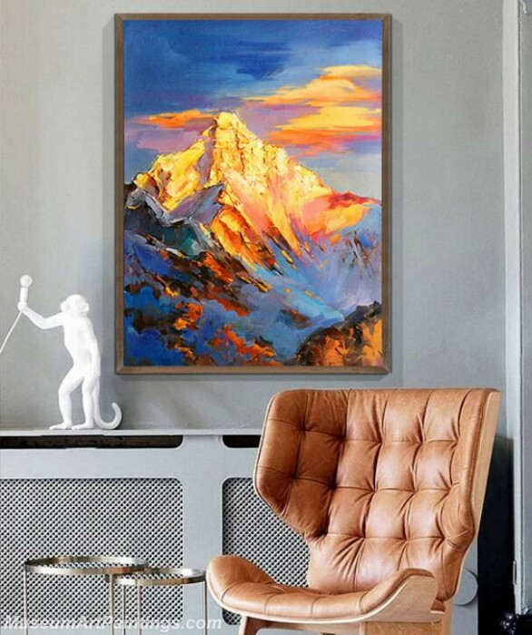 Living Room Paintings for Sale Snow Mountain of Sunrise Landscape Paintings