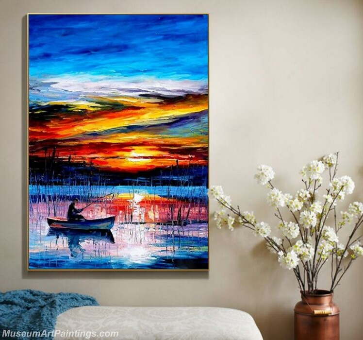 Living Room Paintings for Sale Sunrise at sea Landscape Paintings