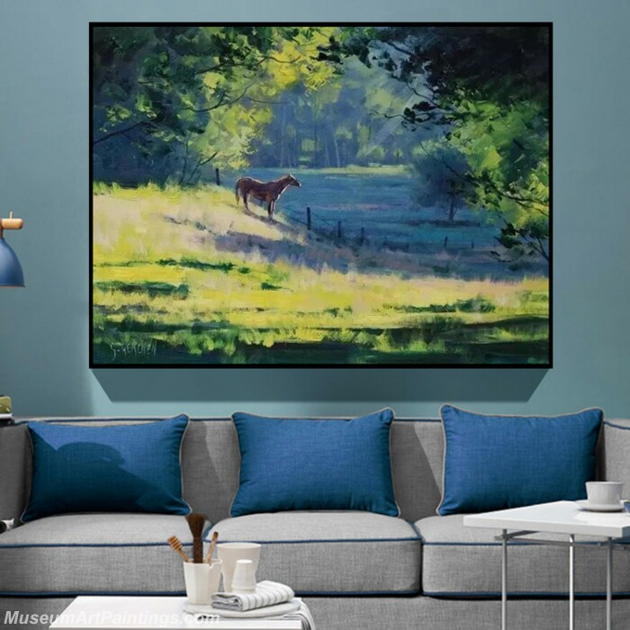 Living Room Paintings for Sale Tranquil Lake Landscape Painting