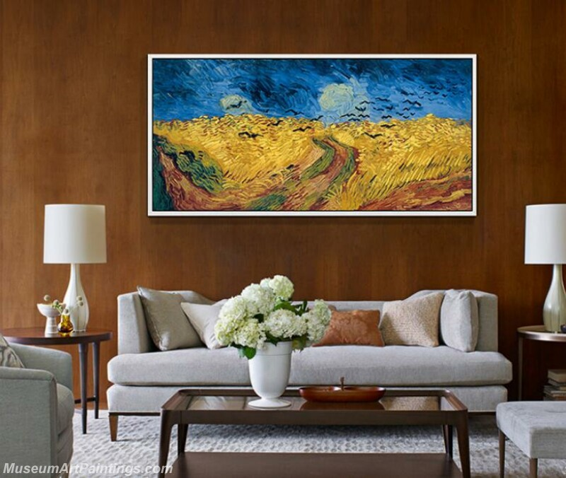 Living Room Paintings for Sale Van Gogh painting golden wheat field