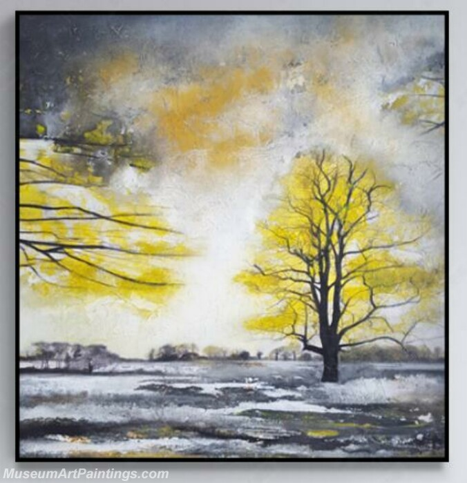 Living Room Paintings for Sale Winter Village Landscape Painting