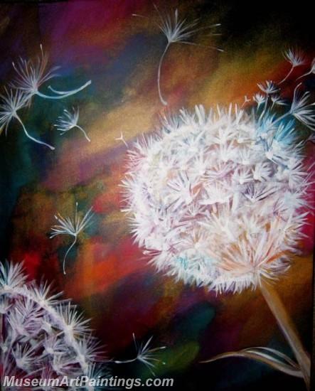Modern Abstract Art Paintings Dandelion MDA020