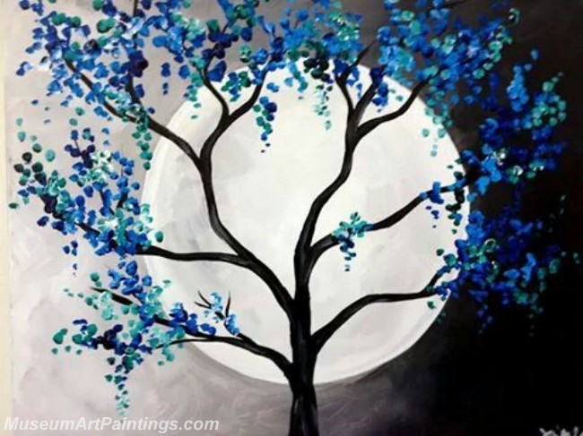 Modern Abstract Art Paintings Landscape Tree MDA013