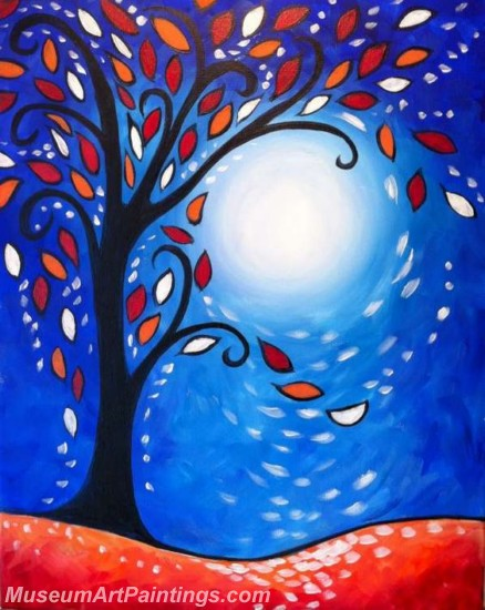 Modern Abstract Art Paintings Landscape Tree MDA015