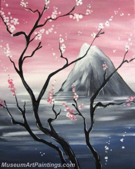 Modern Abstract Art Paintings Landscape Tree MDA017