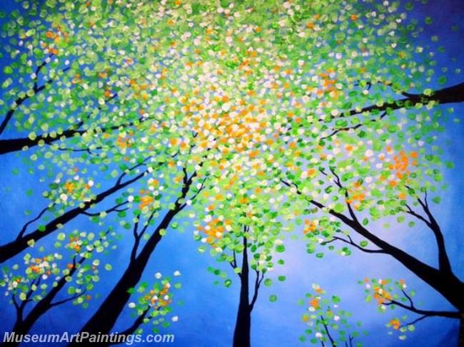 Modern Abstract Art Paintings Landscape Tree MDA022