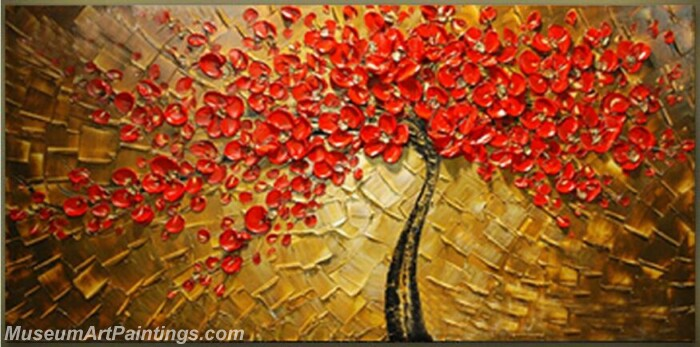 Modern Abstract Wall Art Painting Abstract Flower Tree Landscape Paintings MFL056