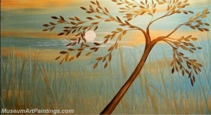 Modern Abstract Wall Art Painting Abstract Tree Landscape Paintings MTL063