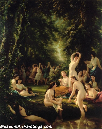 Nude Painting La Reine Bacchanal by Fritz Zuber Buhler