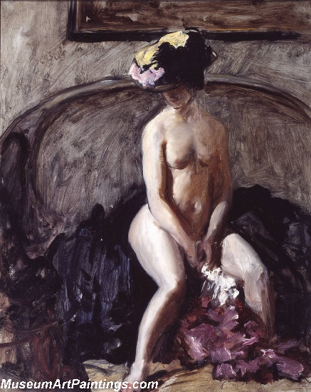 Nude Painting Seated Nude The Black Hat by Philip Wilson Steer