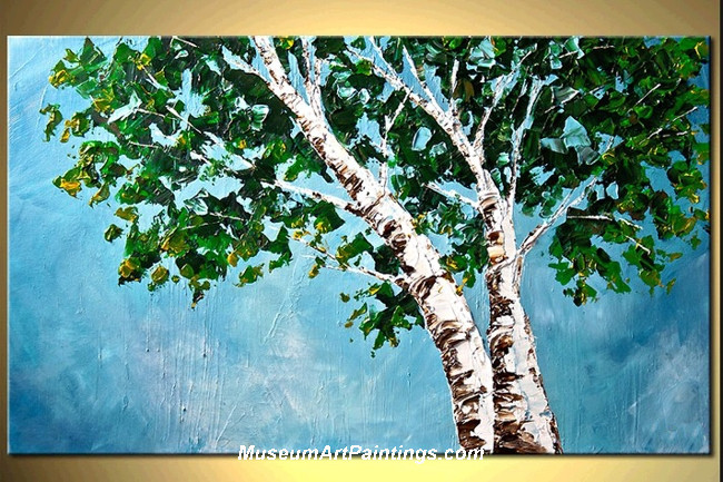 Palette Knife Oil Painting Landscape Tree 008