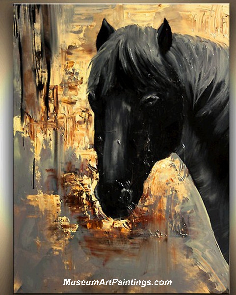 Palette Knife Painting Abstract Horse 001