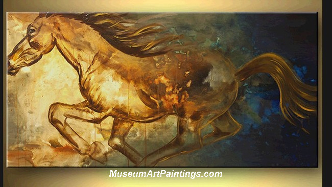 Palette Knife Painting Abstract Horse 002