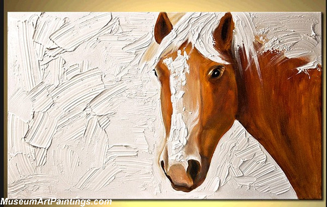 Palette Knife Painting Abstract Horse 003