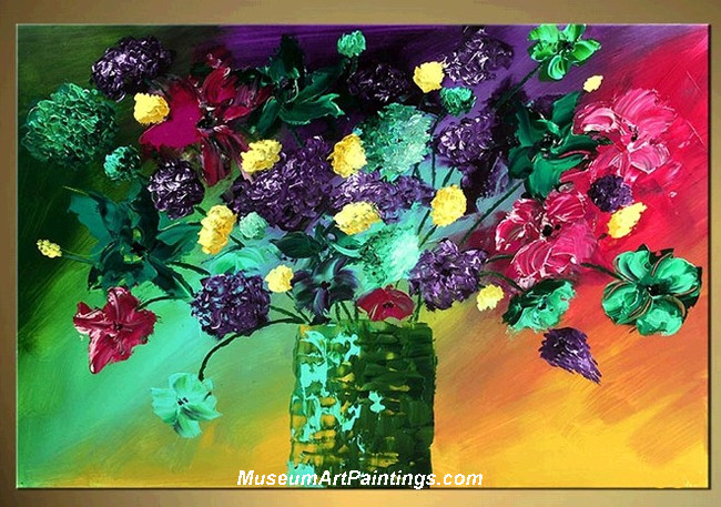 Palette Knife Painting Flower 008