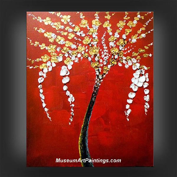 Palette Knife Painting Flower Tree 006