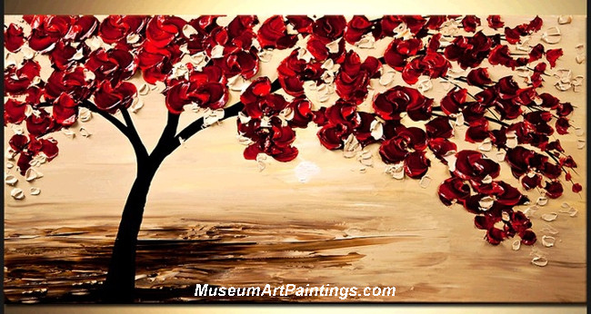 Palette Knife Painting Flower Tree 018