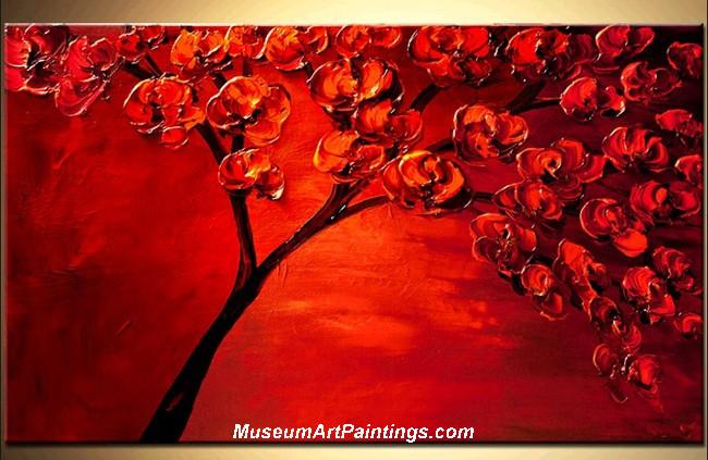 Palette Knife Painting Flower Tree 020