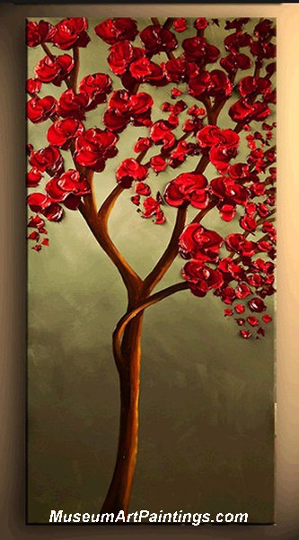Palette Knife Painting Flower Tree 021