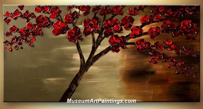 Palette Knife Painting Flower Tree 022