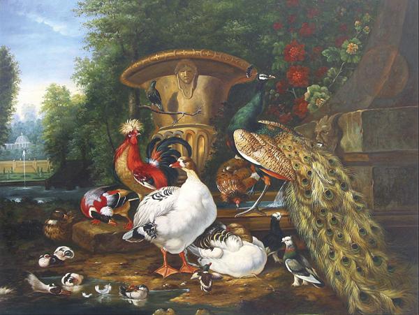 Peacock Oil Paintings 026