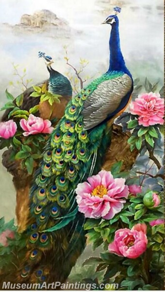 Peacock Oil Paintings PMP014