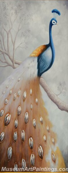 Peacock Oil Paintings PMP017