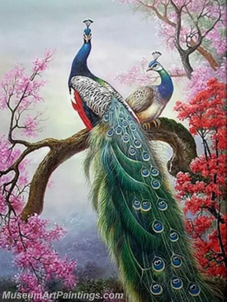 Peacock Oil Paintings PMP020