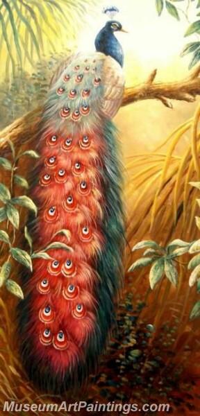 Peacock Oil Paintings PMP025