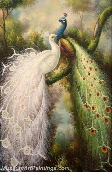 Peacock Oil Paintings PMP026