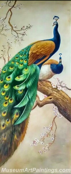 Peacock Oil Paintings PMP03