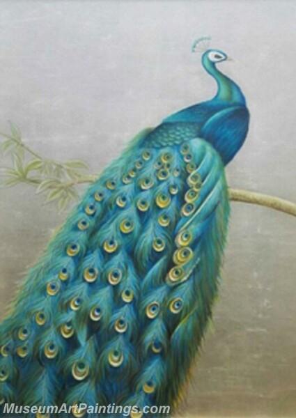 Peacock Oil Paintings PMP04