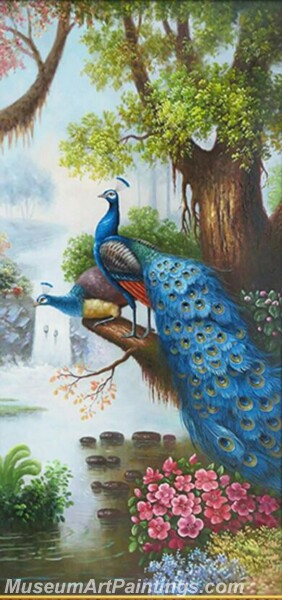 Peacock Oil Paintings PMP08
